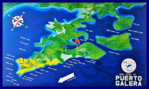 プエルトガレラダイブサイトマップ