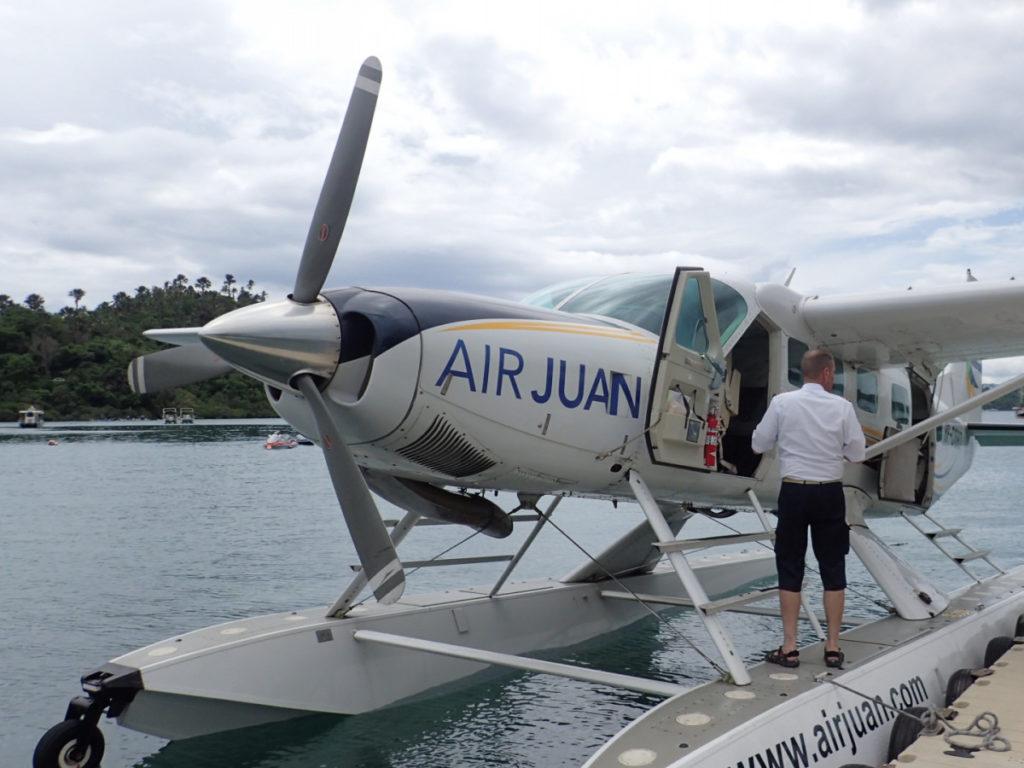プエルトガレラ-マニラ間を結ぶ水上飛行機