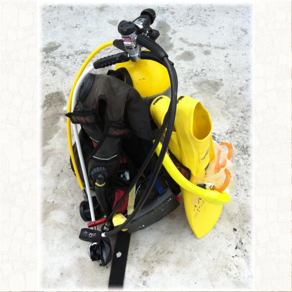 ダイビング器材の写真